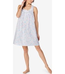 eileen west cotton floral printed sleeveless nightgown