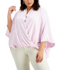 alfani plus size dolman-sleeve top, created for macy's