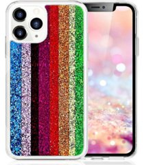 milanblocks iphone 11 pro rainbow glitter phone case