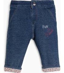 denimowe spodnie