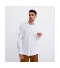 camiseta manga longa com capuz | marfinno | branco | p