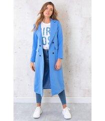 ultra long coat blauw