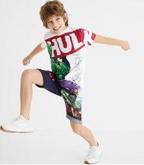 100% cotton hulk t-shirt - white - 11/12
