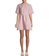 donna short-sleeve flare dress
