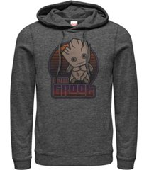 marvel men's guardians of the galaxy kawaii i am groot, pullover hoodie