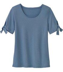 shirt uit bio-katoen, rookblauw 46