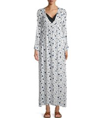 chaser women's star-print maxi coverup dress - star print - size l