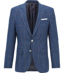 boss men's hutsons slim-fit linen blazer