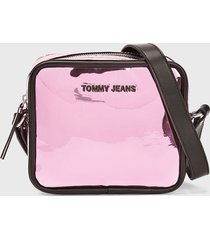 cartera bandolera rosado tommy jeans