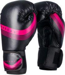 luva boxe muay thai fheras lines pink top black - verde - feminino - dafiti