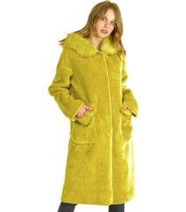 abrigo largo mostaza bous