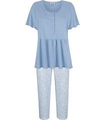 pyjama mona lichtblauw::wit::marine