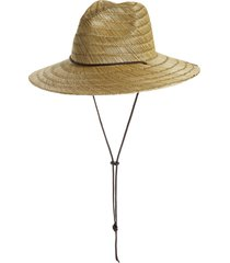 brixton bells straw sun hat, size large in tan at nordstrom