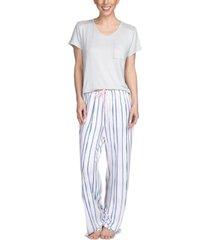 hanes women's 2pc pajama set