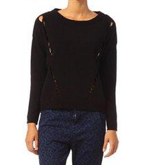 trui vero moda parma new ls oversize blouse 10119636 noir