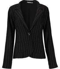 blazer pinstripe zwart