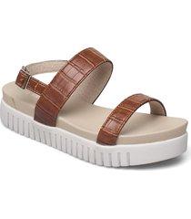 sandals shoes summer shoes flat sandals brun ilse jacobsen