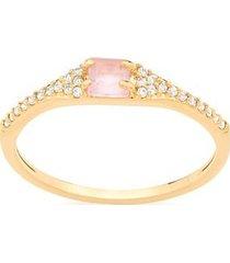 anel skinny ring crista e zircônias rommanel