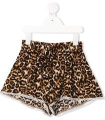 caffe' d'orzo rosanna leopard-print shorts - neutrals