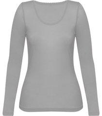 enna, biologisch zijden shirt met lange mouwen, platinum 44/46