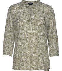 blouse 3/4-sleeve blus långärmad beige taifun