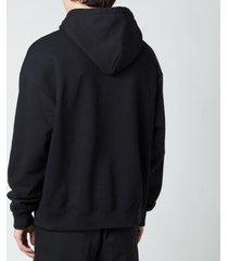 mackage men's pheonix fleece jersey hoodie - black - xl