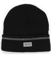 kenneth cole reaction men's reflective stripe beanie