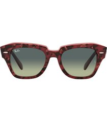 ray-ban 52mm square sunglasses in purple havana at nordstrom