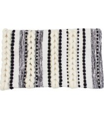 """anya braided applique stitched pillow shell, 20"""" x 12"""""""