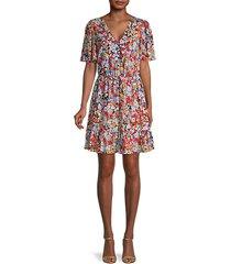 sorcha floral blouson dress
