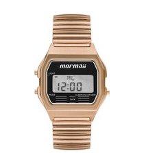 relógio digital mormaii unissex - mojh02ax4j rosê