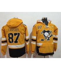 pittsburgh penguins 87 sidney crosby stadium series gold hockey pullover hoodie