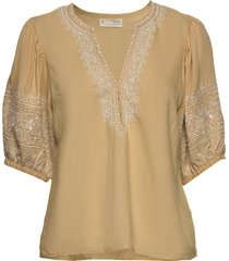dynamic blouse blouses short-sleeved beige odd molly