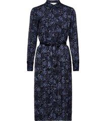 recycle polyester dress ls dresses everyday dresses blauw rosemunde