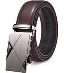 cinturon hombre lujo hebilla automatica zdk843m3- color negro