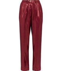 forte forte pantalone jacquard lurex rosso