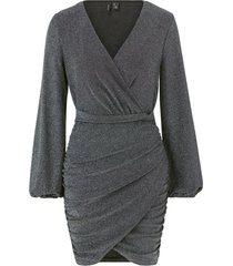 omlottklänning vmglamour l/s v-neck dress