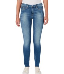 jeans ckj 011 mid rise skinny azul calvin klein