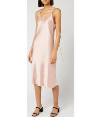 helmut lang women's double strap satin slip dress - sorbet - us 4/uk 8