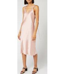 helmut lang women's double strap satin slip dress - sorbet - us 10/uk 14