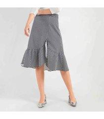 falda en gallineto estampado  97391cl