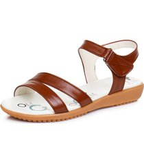 pantofole piatte in pelle con punta arrotondata e punta rotonda in pelle da donna