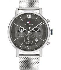 reloj análogo plateado tommy hilfiger