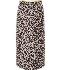n.21 leopard printed midi skirt