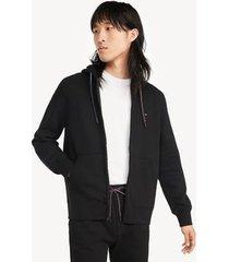 tommy hilfiger men's essential zip hoodie deep black - xl