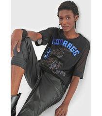camiseta john john courage tiger preta
