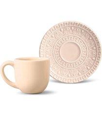 jogo de xícaras de café 12 pçs greek cru porto brasil