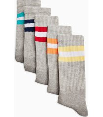 mens multi stripe twist socks 5 pack