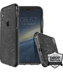 estuche para iphone x prodigee super star - negro
