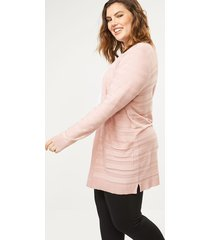 lane bryant women's textured stripe open cardigan 26/28 pale mauve